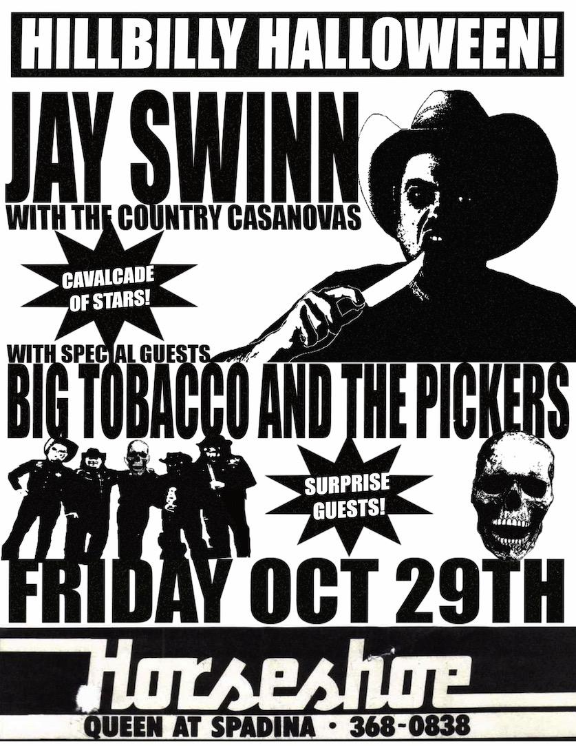 Jay Swinn, w/ Big Tobacco & The Pickers