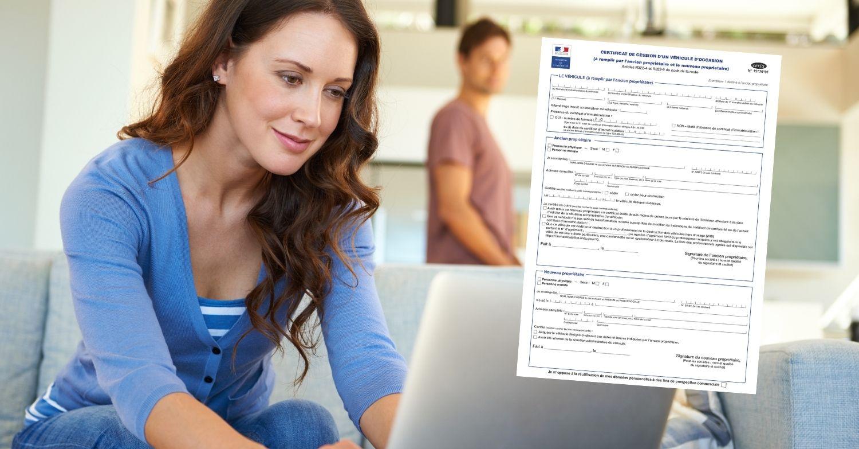 Certificat de cession d'un véhicule en ligne