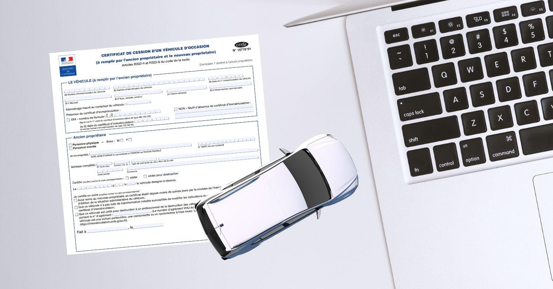 Certificat de cession d'un véhicule à remplir en ligne