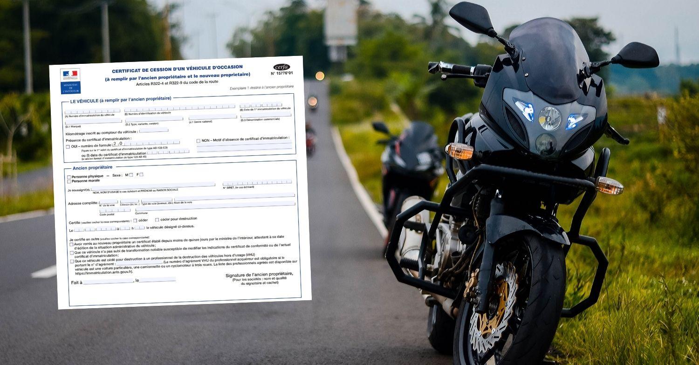 Certificat de cession pour moto