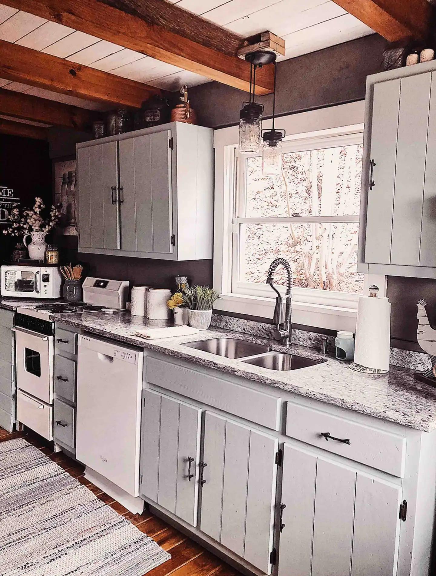 Tennessee Cider Company's Airbnb mason jar lodge kitchen