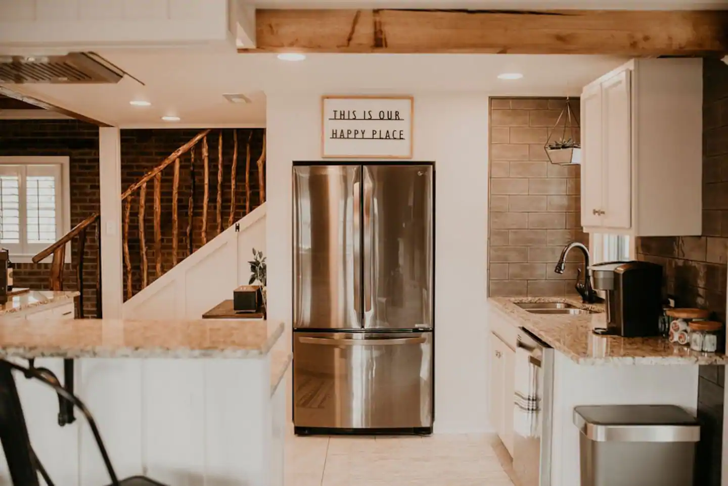 Tennessee Cider Company's Airbnb the mountain lodge kitchen