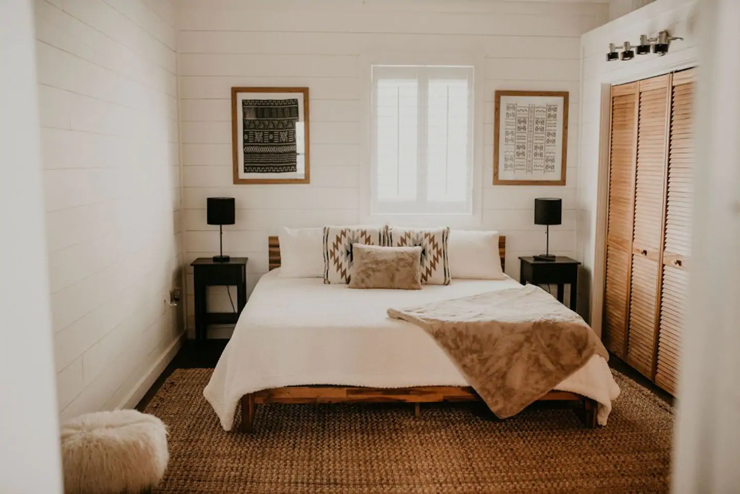 Tennessee Cider Company's  Airbnb the mountain lodge bed