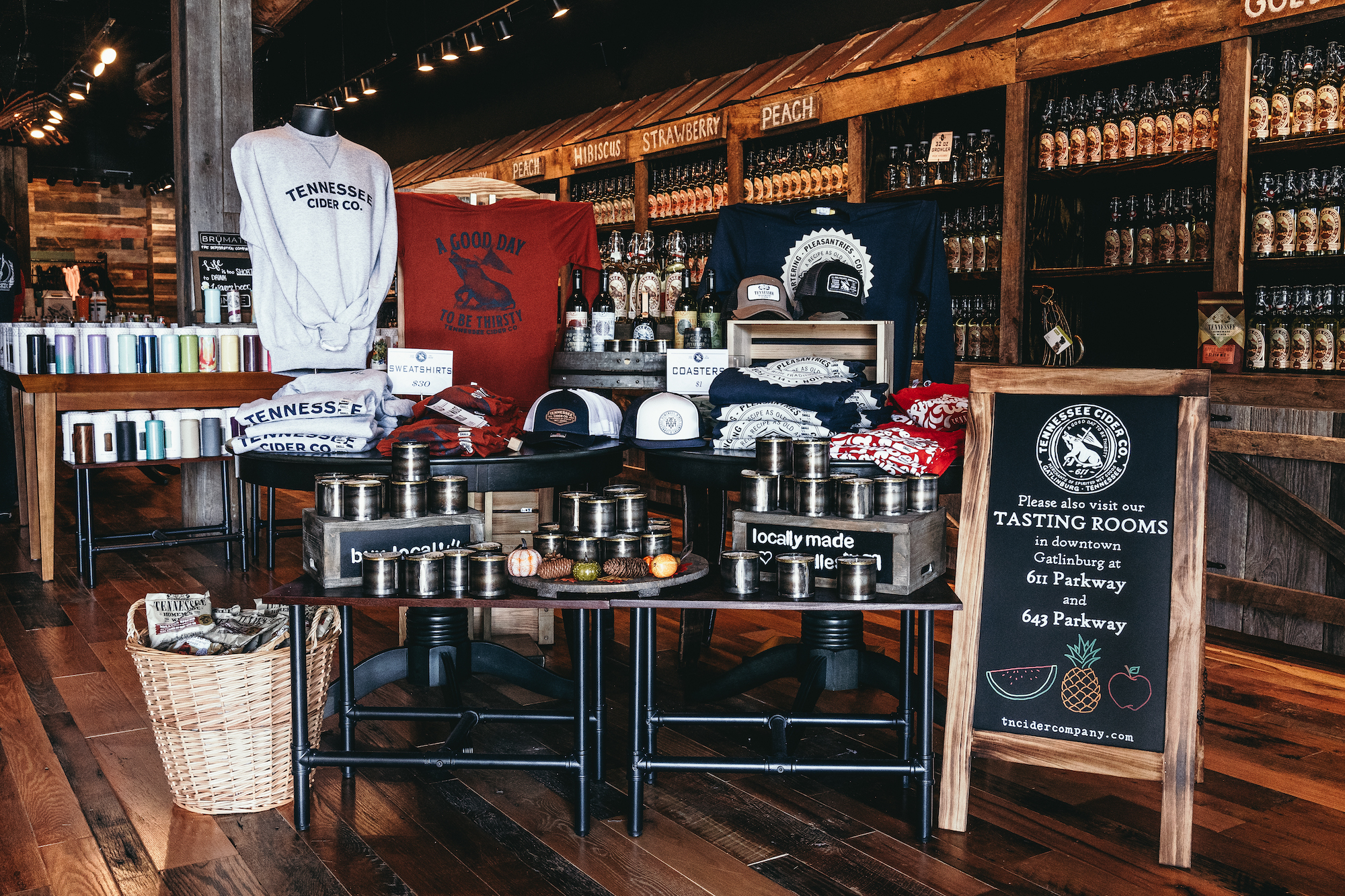 Products on sale in Tennessee Cider Company - Tennessee Cider Company offers many products other than cider for your enjoyment in Gatlinburg and Sevierville Tennessee