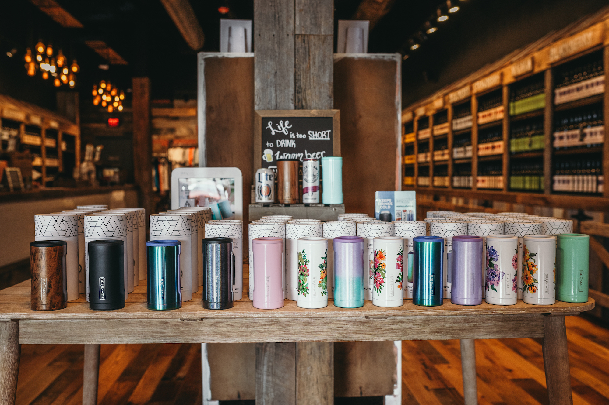 Cups on a shelf - Tennessee Cider Company offers many products other than cider for your enjoyment in Gatlinburg and Sevierville Tennessee