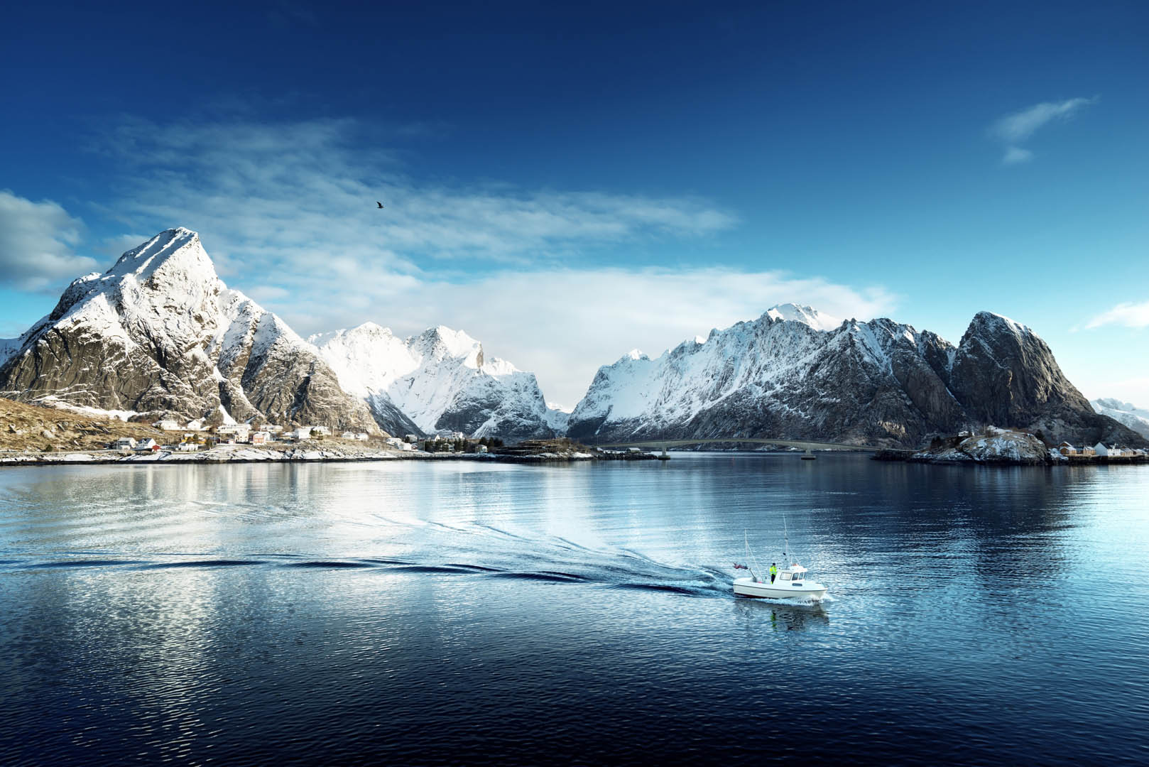 Norwegian mountains and fjords