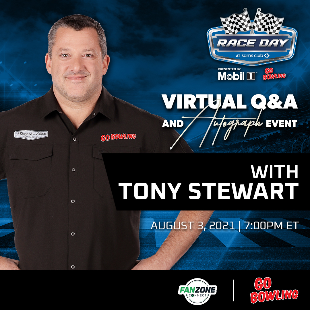 FanZone Connect Virtual Q&A and Autograph Event with Tony Stewart | Click Here for More Information