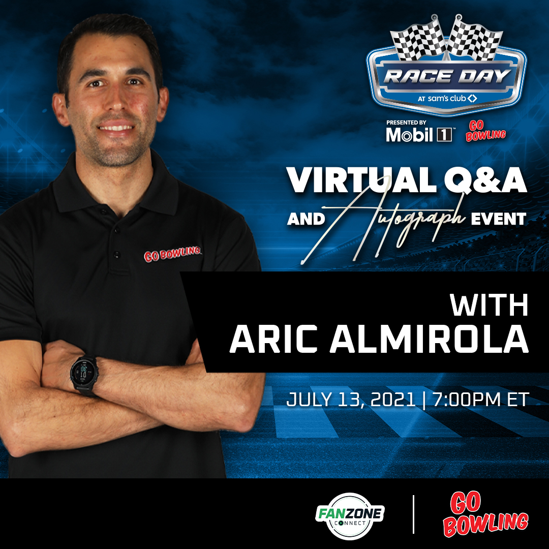 FanZone Connect Virtual Q&A and Autograph Event with Aric Almirola | Click Here for More Information