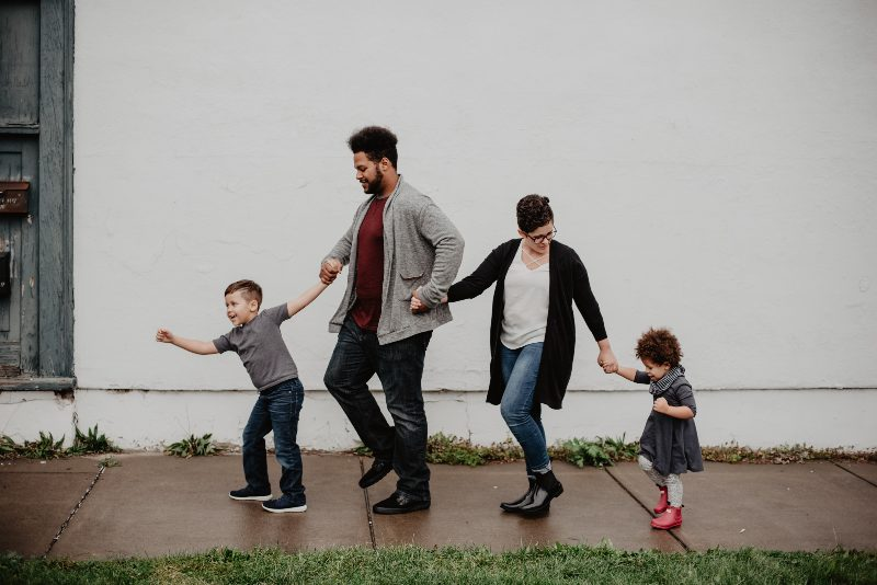 a family walking together