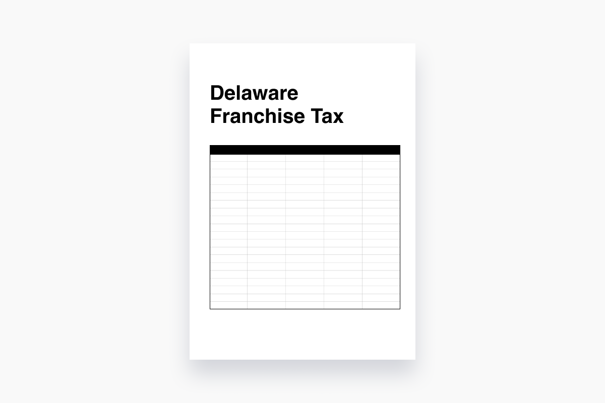 How to calculate and pay Delaware Franchise Tax