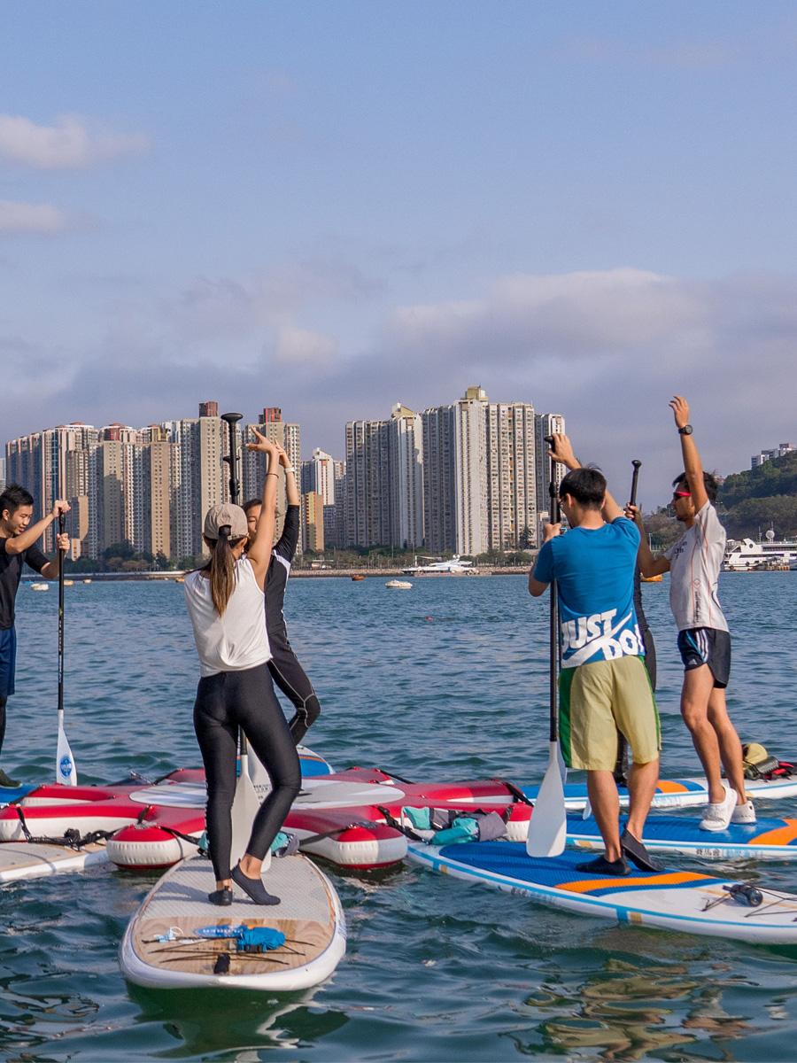香港遊樂場協會直立板瑜伽體驗日