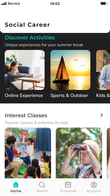 Social Career - Event Go! Mobile App Browse Activities