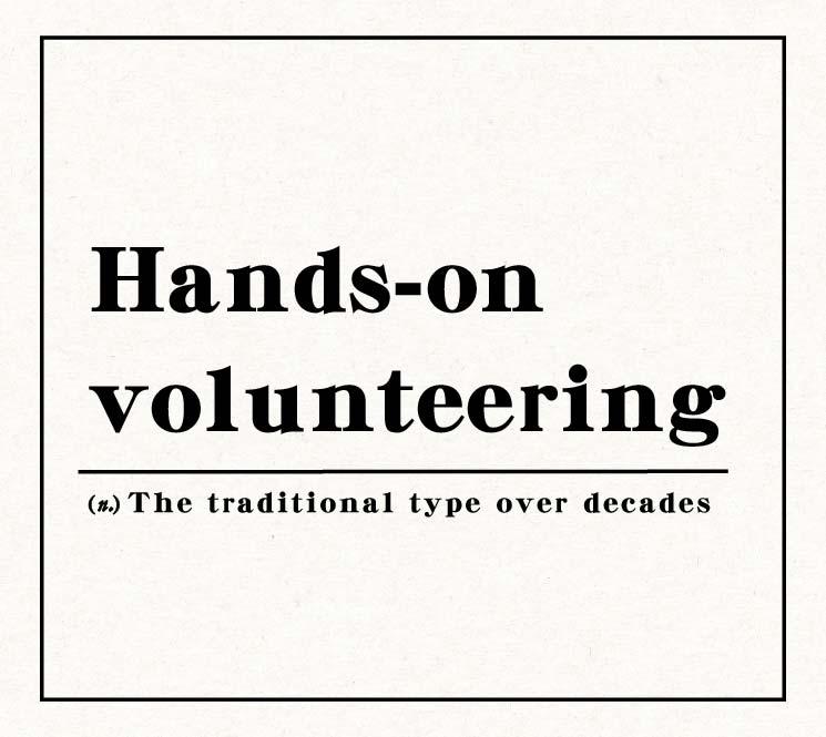 Hands-on volunteering