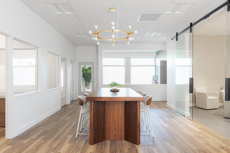 photo of the newly renovated Allium Financial Lake Oswego office