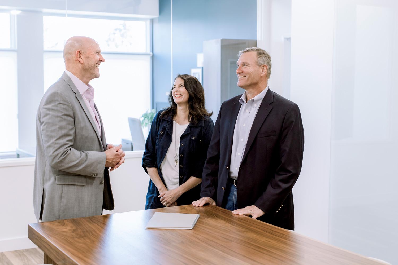 Allium Financial's advisor team talking to clients