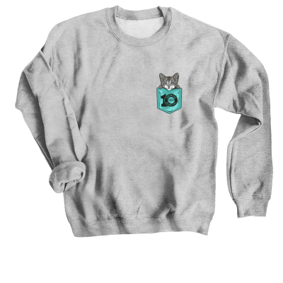 Baby Oskar Pocket Design Oskar and Klaus merch, a Sport Grey Crewneck Sweatshirt