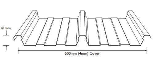 Metal Roofing Supplies - Stramit Speed Deck 500
