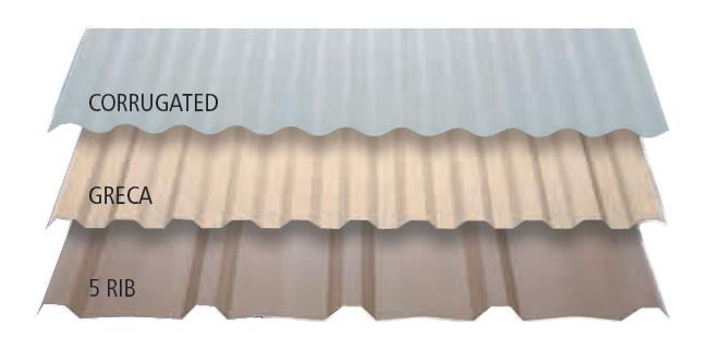 Solasafe profiles - corrugated, greca, 5 rib