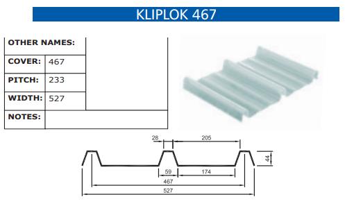 Kliplok 467 Fibreglass Profile