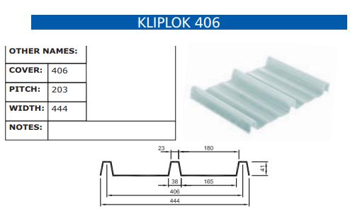 Kliplok 406 Fibreglass Profile