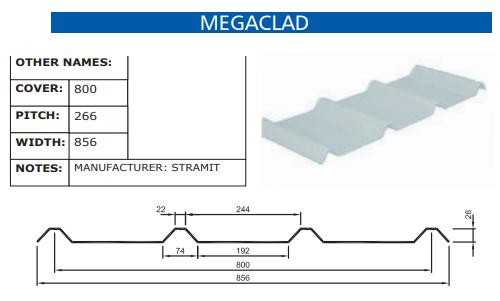 Megaclad Fibreglass Profile