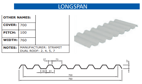 Longspan Fibreglass Profile