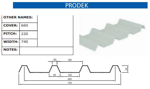Prodek Fibreglass Profile