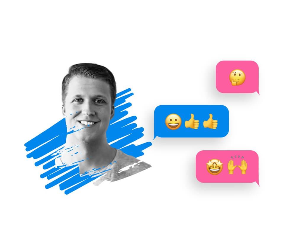 Konversation med direkt svar på kundens fråga