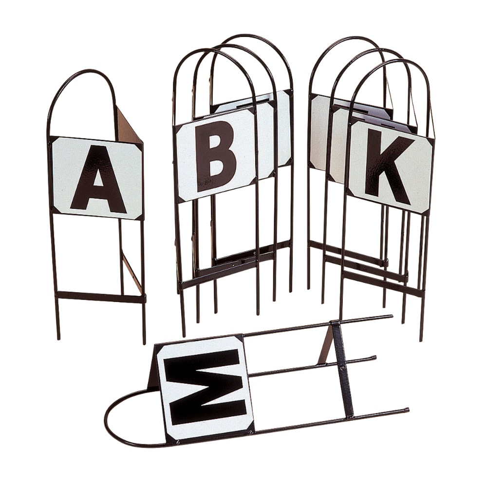 Double Sided Markers - Set Of 8 Letters Abcefhkm