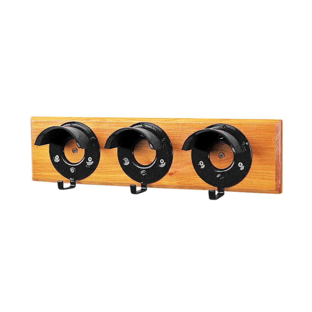 Bridle Racks: Set Of Three On Hardwood Board