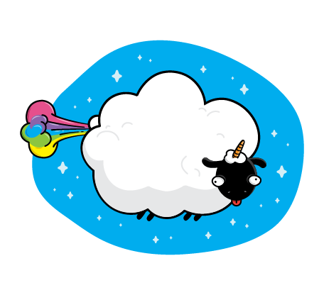 Cloudy the sheep