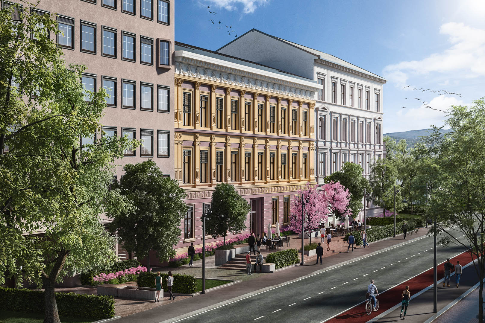 Et bilde av Parkkvartalet i Oslo.