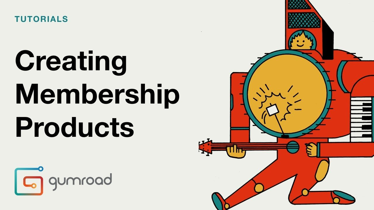 Creating membership products in Gumroad.