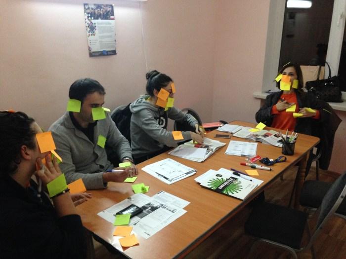 Georgian students learning English in Tbilisi