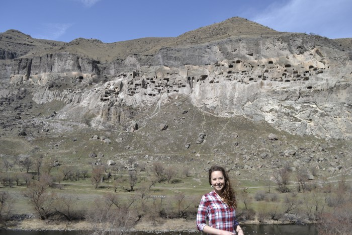 Our CELTA teacher travelling in Tbilisi