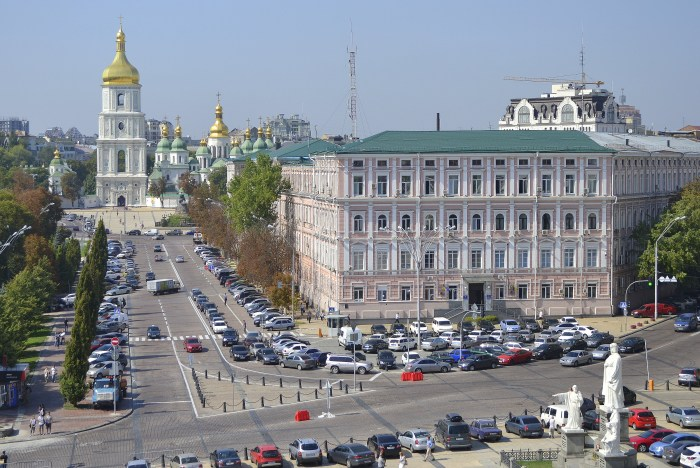 Downtown Kiev and the Saint Sophia Cathedral, a UNESCO World Heritage site