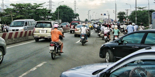TEFL teacher Sherry has to adapt to a new commute routine in a new country