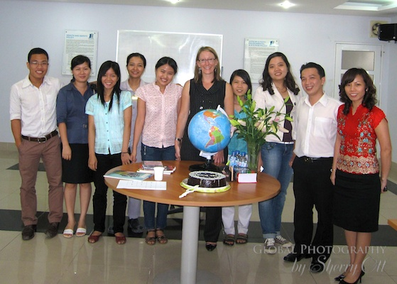ESL teacher Sherry get to apply her own background in business on her new teaching career