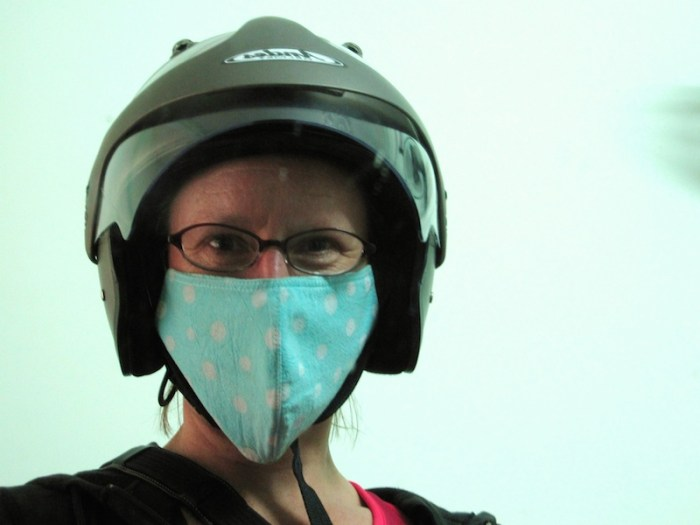 ESL teacher Sherry overcame her fear of riding a motorbike when she was working in Vietnam