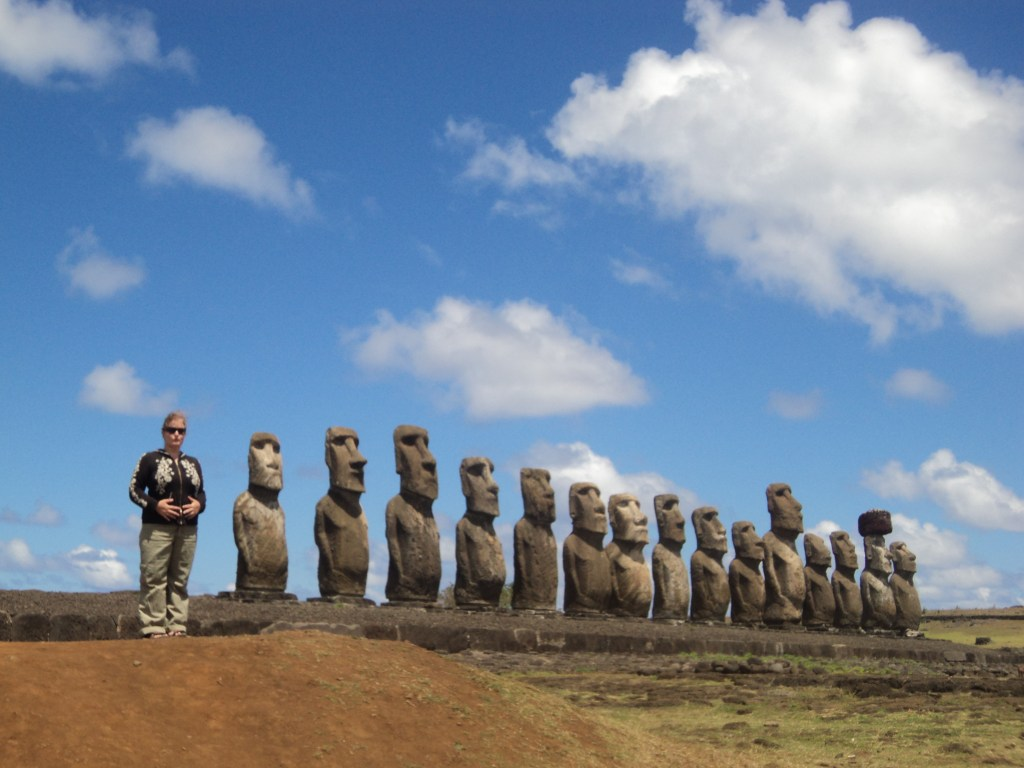 Easter Island offers enchanting natural landscapes and the mysterious statues of Moai that are worth a visit
