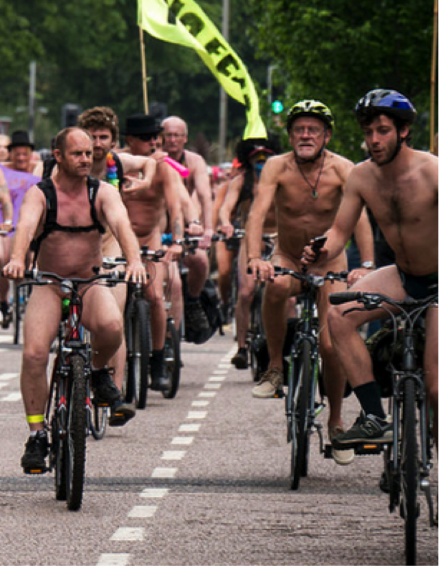 World Naked Bike Ride Day can be an interesting and unforgettable lesson material for your classroom