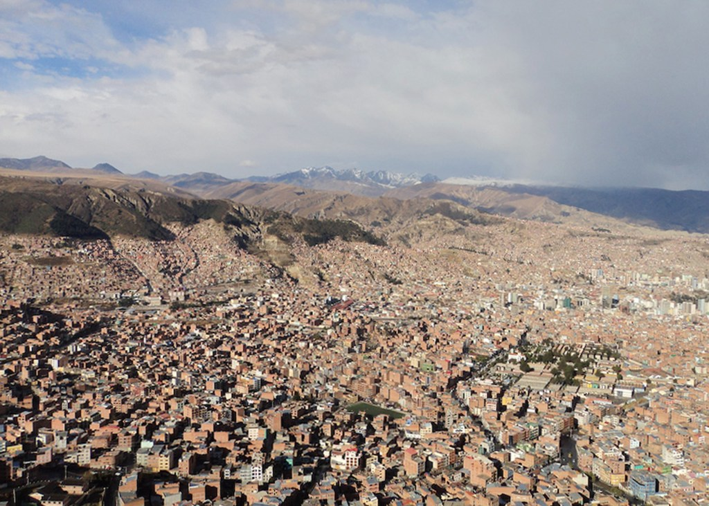 The beautiful view of La Paz, Bolivia, a great work or travel destination