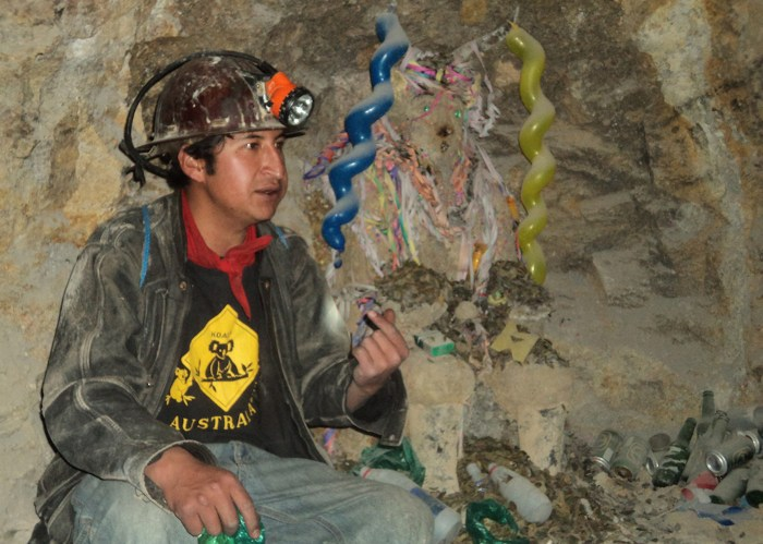 ESL teacher Fran toured Bolivia's mines during her time backpacking in the country