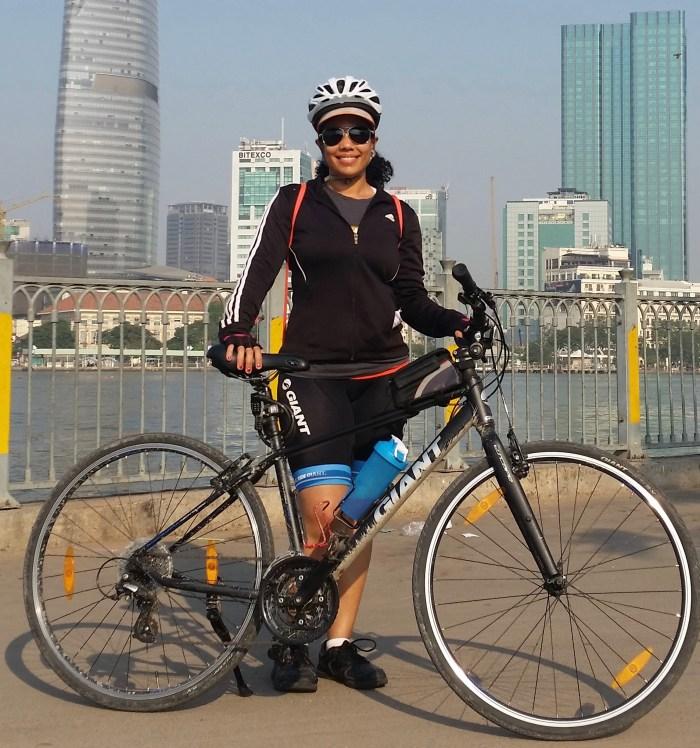 ESL teacher Georgina Sanchez went on a charity bike ride, sponsored by Teaching House, that benefitted local children charities