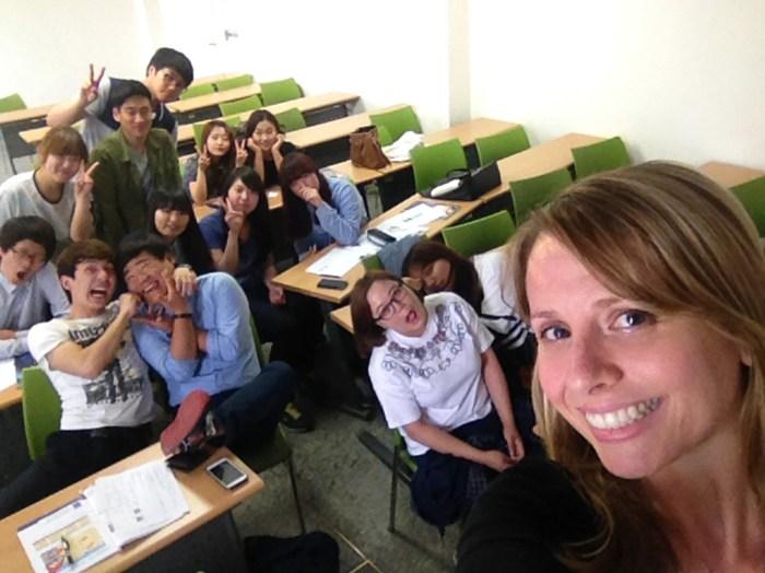 ESL teacher Whitney Currier met lovely students when she was teaching English in Daegu, South Korea