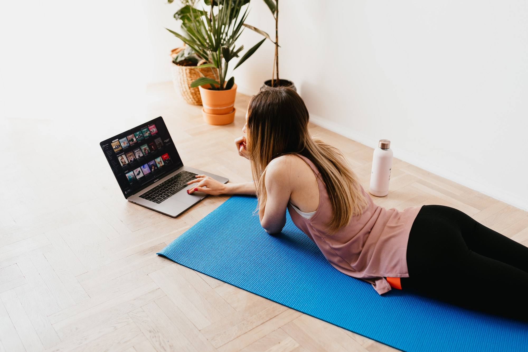 Yoga is always a good idea for a free, accessible workout that can be done from your living room