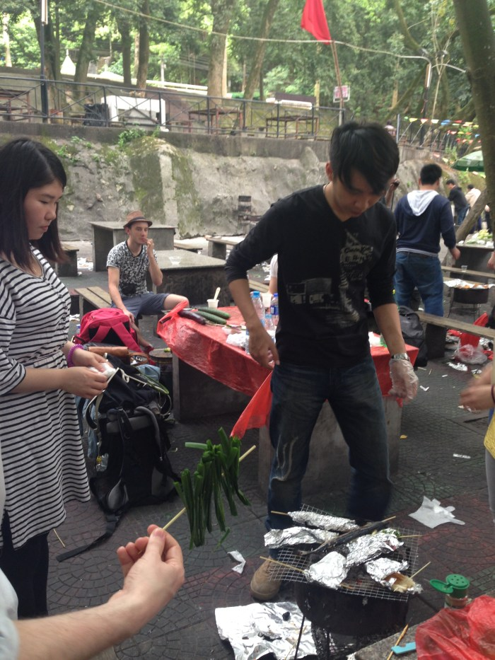 Chinese-style barbeque is an exciting and enjoyable food experience for ESL teacher Brycie Gold