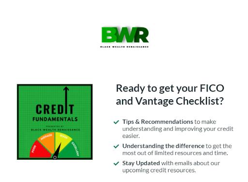 Black Wealth Renaissance Credit Fundamentals Course