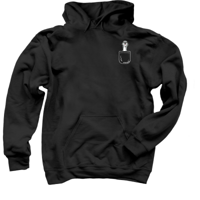 Tika the Iggy Pocket merch, a black Pullover Hoodie