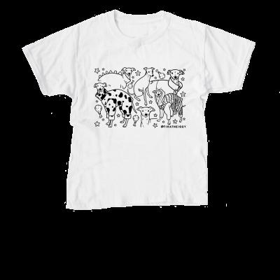 Tika the Iggy Doodle merch, a white Youth Unisex Tee